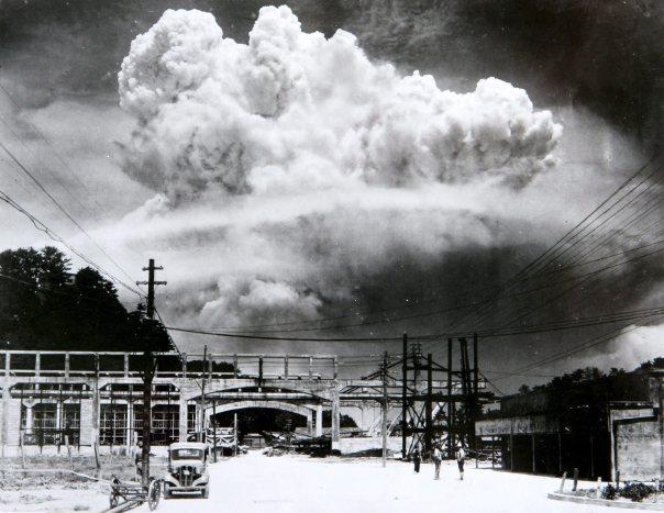 Atomic cloud over Nagasaki