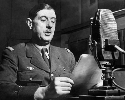 Charles de Gaulle calls the French to arms via the BBC