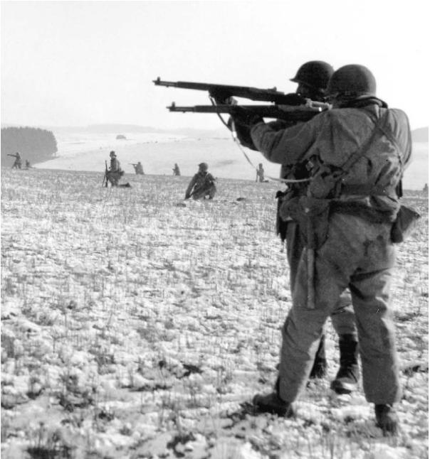American infantry near Bastogne