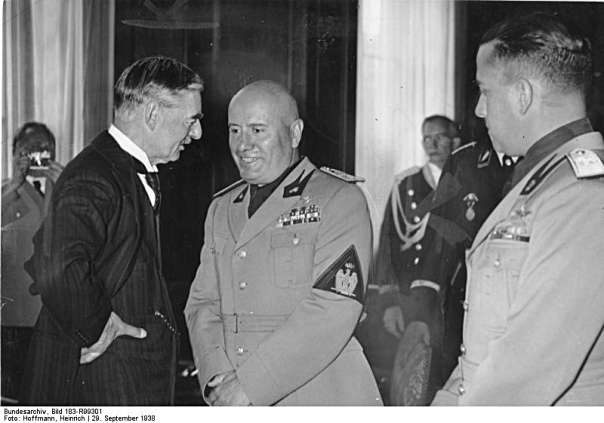 Münchener Abkommen, Chamberlain, Mussolini, Ciano
