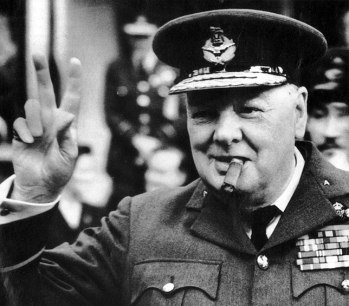 churchill v sign