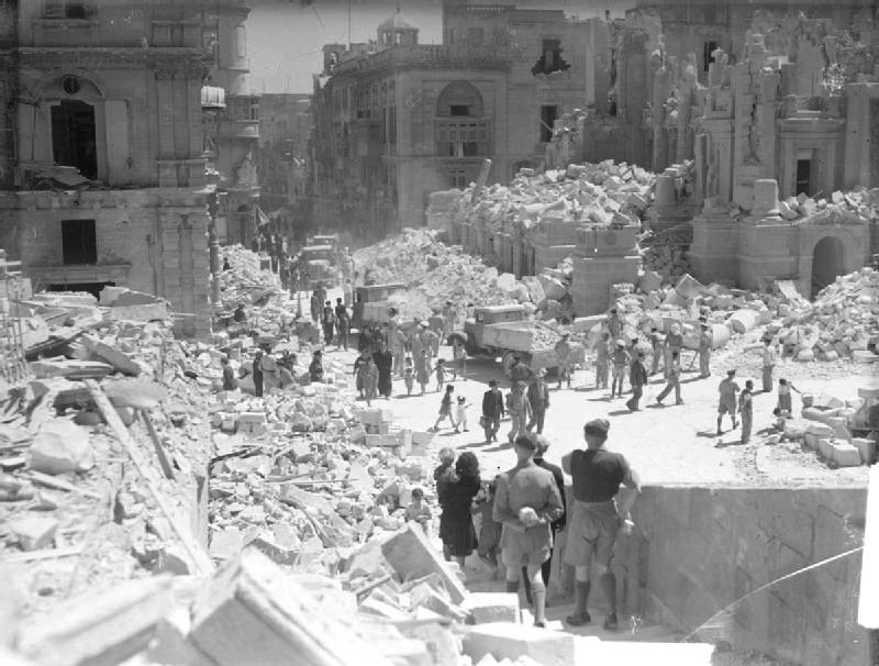 Bomb Damage Valletta Malta @© IWM A 8701